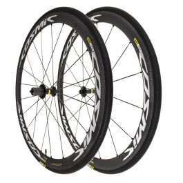 Mavic Cosmic Carbone 40 Elite + Yksion Tire Road 700C Clincher Wheelset