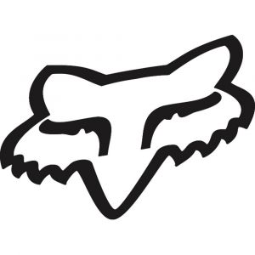 Fox Racing Sticker Fox Head TDC Black 4
