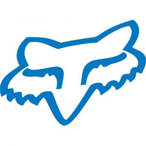 Fox Racing Sticker Fox Head TDC Blue 4