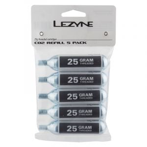 Lezyne Pump Co2 Cart 25G Threaded Bag of 5