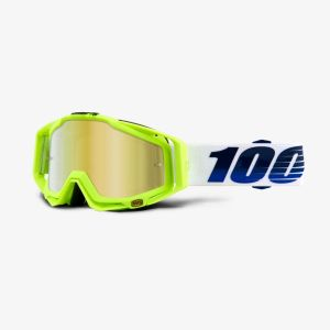 100% RACECRAFT Goggle GP21 - Mirror Gold Lens
