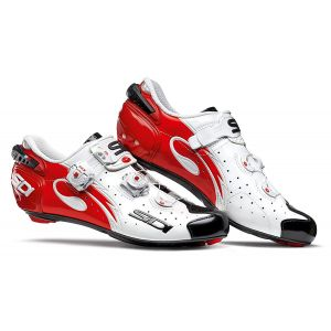 Sidi Wire Carbon Road Shoe White/Black/Red (Eur 42/US 8.25)