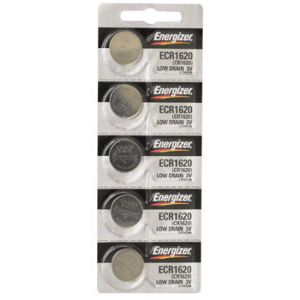 Energizer CR1620 Lithium Battery: Card of 5