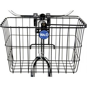 Wald 3133 Front Quick Release Basket with Bolt-On Mount Gloss Black