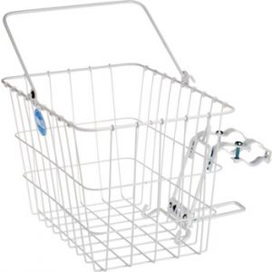 Wald 3114 Front Quick Release Basket with Bolt-On Mount White