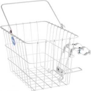 Wald 3133 Front Quick Release Basket with Bolt-On Mount White