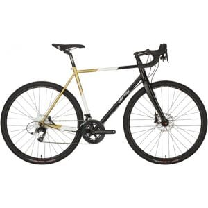 All-City Cosmic Stallion Bike Black/White/Gold 46cm