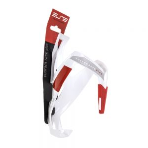 Elite Custom Race Plus Bottle Cage White/Red