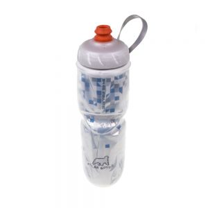 Polar Bottles Insulated Water Bottle with ZipStream Cap 24oz Break Away Blue