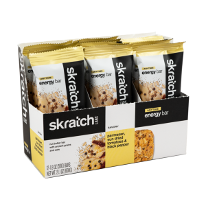 Skratch Labs Anytime Energy Bar, Parmesan, Sun Dried Tomatoes & Black Pepper, 50g Bar, 12 Pack