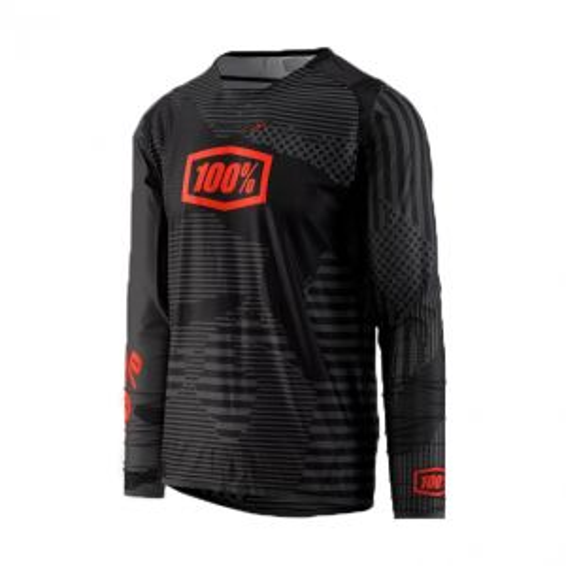 100% R-Core-X DH LS Jersey Black Camo MD