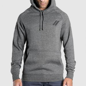 Black Sheep Casuals Charcoal Slash Hoodie - L