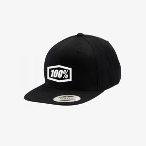 100% Corpo Classic Snapback Hat Black