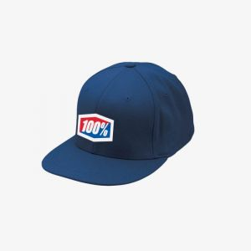100% Essential J-FIT Flexfit Hat Navy LG/XL