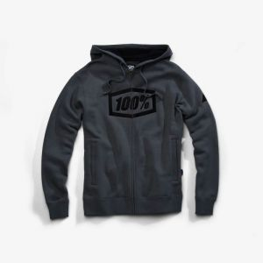 100% SYNDICATE Zip Hooded Sweatshirt Steel Grey XL