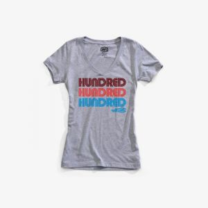 100% HUNDRED Women's Tee-shirt Heather Grey MD