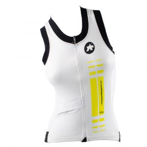 ASSOS NS.SUPERLEGGERA JERSEY - SLEEVELESS -Xtra small ladys yellow volt