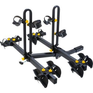 Saris Freedom 4 Bike Tray Universal Hitch Rack: 4-Bike Black