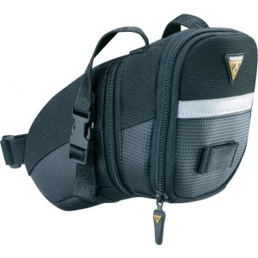 Topeak Aero Wedge Seat Bag Strap/On: Medium Black