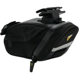 Topeak Aero Wedge DX Seat Bag with Mount: Medium Black