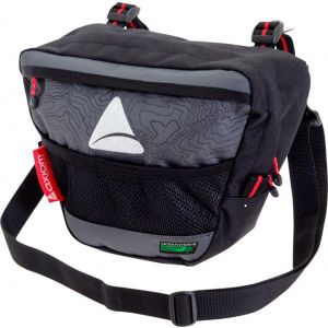 Axiom Seymour Oceanweave P4 Handlebar Bag: Black/Gray