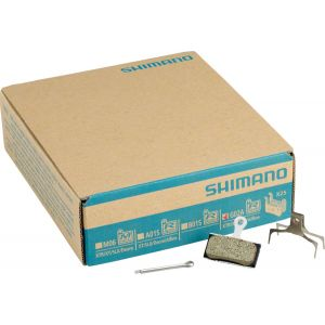 Shimano G02A Resin Disc Brake Pads and Spring, 25 Pairs, XTR BR-M9020, XT BR-M8000, SLX BR-M675, Deore BR-M615, BR-R517 Calipers