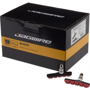 Jagwire Mountain Sport Brake Pads Threaded Post Box of 25 Pair Red
