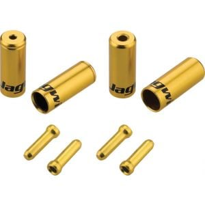 Jagwire End Cap Hop-Up Kit 4.5mm Shift and 5mm Brake Gold
