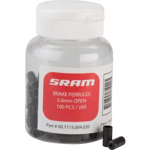 SRAM 5mm Brake Cable Housing Ferrules Black 100-count Jar