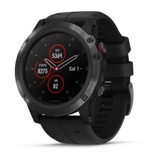 Garmin Fenix 5X Plus Sapphire Smartwatch: Black