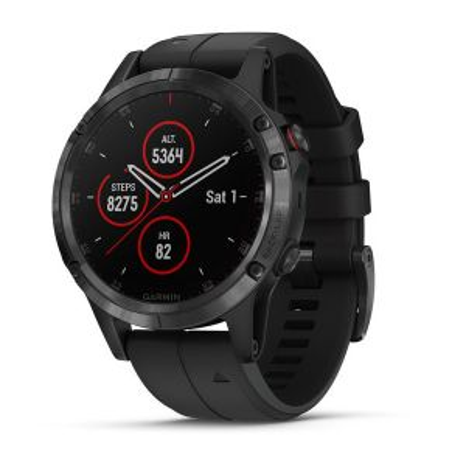 Garmin Fenix 5 Plus Sapphire Smartwatch: Black