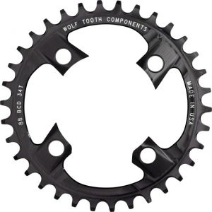 Wolf Tooth Components 34t 88bcd Drop-Stop Chainring for Shimano XTR M985