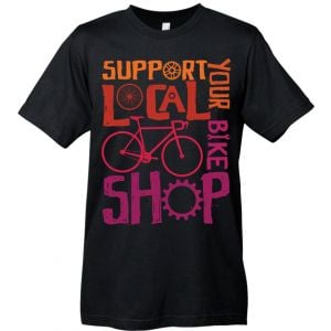 Mechanical Threads Support Your Local Shop T-Shirt: Black~ XL