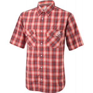 Race Face Shop Men's Shirt: Gray/Red Plaid MD