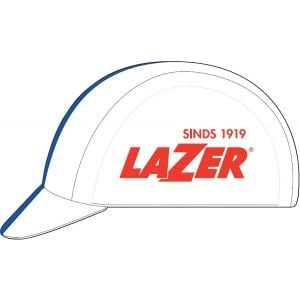 Lazer Cycling Cap: White with Blue Line