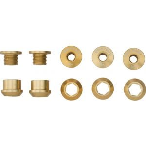 Wolf Tooth Components 6mm Chainring Bolts/Nuts for 1x: Set of 5 - Dual Hex