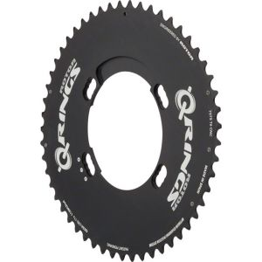 Rotor Q Chainring: Black 46Ax110x4 Shimano