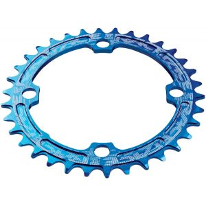 RaceFace Narrow Wide Chainring: 104mm BCD 36t Blue