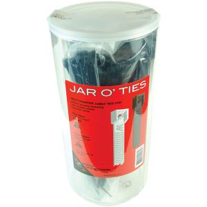Wheels Manufacturing Zip Ties: Black 600 pieces with POP Jar
