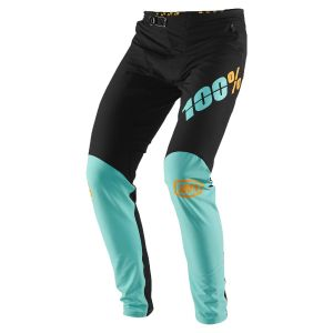 100% R-Core-X Pants: Black/Cyan 32