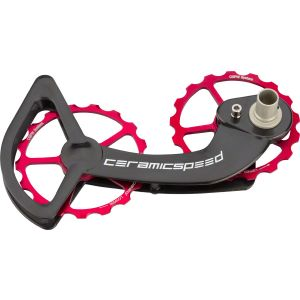CeramicSpeed Shimano 10/11-speed Oversized Pulley Wheel System: Alloy Pulley, Carbon Cage, Red
