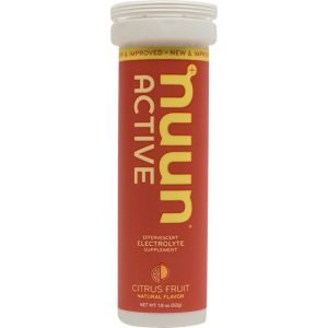 Nuun Active Hydration Tablets: Citrus Fruit Box of 8 Tubes