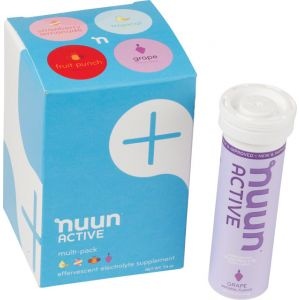 Nuun Active Hydration Tablets: New Mixed Pack Box of 4 Tubes