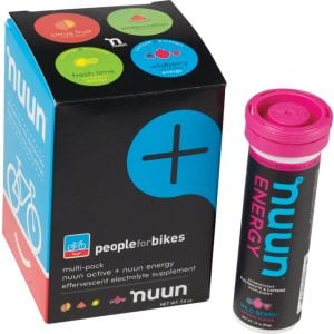 Nuun Hydration Tablets: People for Bikes Mixed Pack Box of 4 Tubes