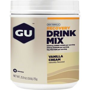 GU Recovery Drink Mix: Vanilla Cream 15 Serving Canister