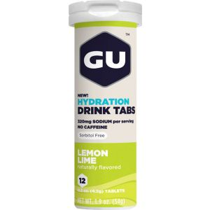 GU Hydration Drink Tabs: Lemon Lime Box of 8 Tubes