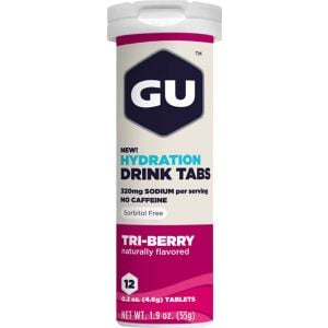 GU Hydration Drink Tabs: Triberry Box of 8 Tubes