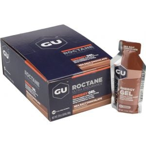 GU Roctane Energy Gel: Sea Salt Chocolate Box of 24