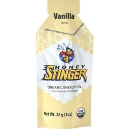 Honey Stinger Organic Energy Gel: Vanilla Box of 24