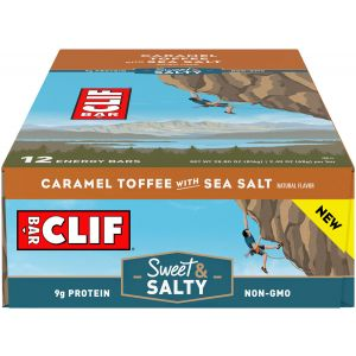 Clif Bar Original: Caramel Toffee with Sea Salt Box of 12